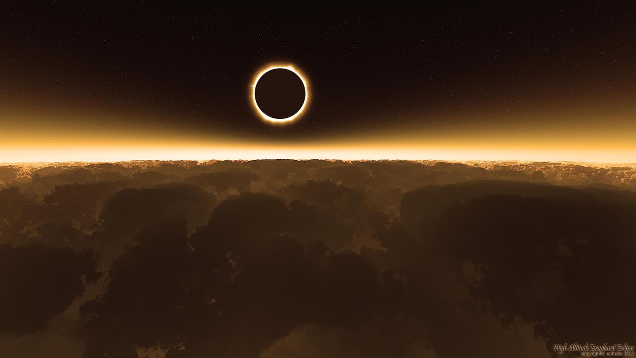 High Altitude Exoplanet Eclipse by nethskie on DeviantArt
