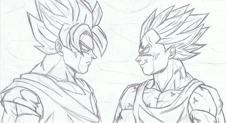 Goku Vs Vegeta By Grszs On DeviantArt