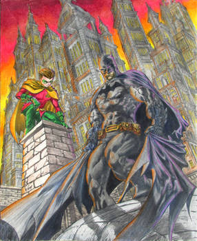 Batman and Robin by Alan Quah