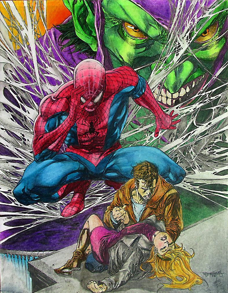 Spiderman Gwen by sjsegovia