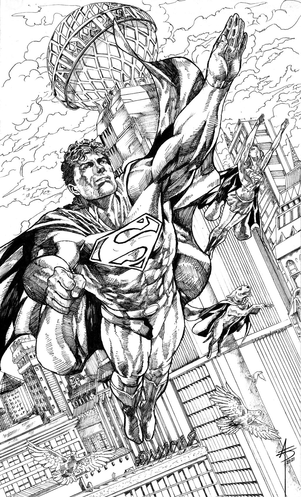 SUPERMAN FAMILY Inked
