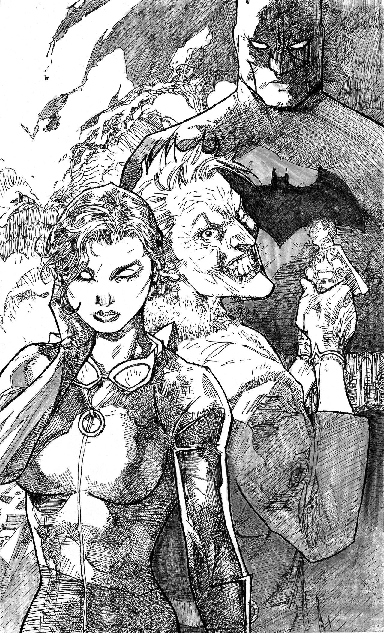 BATMAN CATWOMAN Issue 2 varent cover by Jim Lee