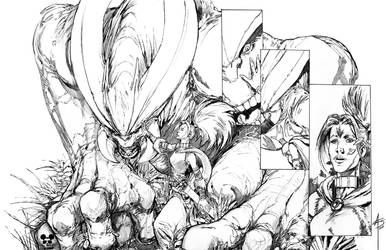 HEX-The Lost Tribe - Issue #2 Inked