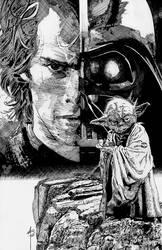INKED ANAKIN, YODA and Vader