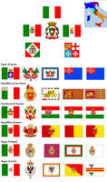 Italian Confederation - map and flags by Elendil85