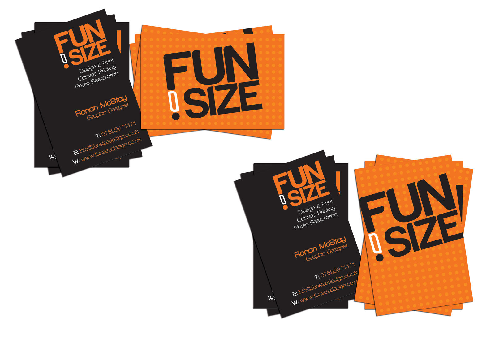 FunSize Design Business cards by RonanMcS