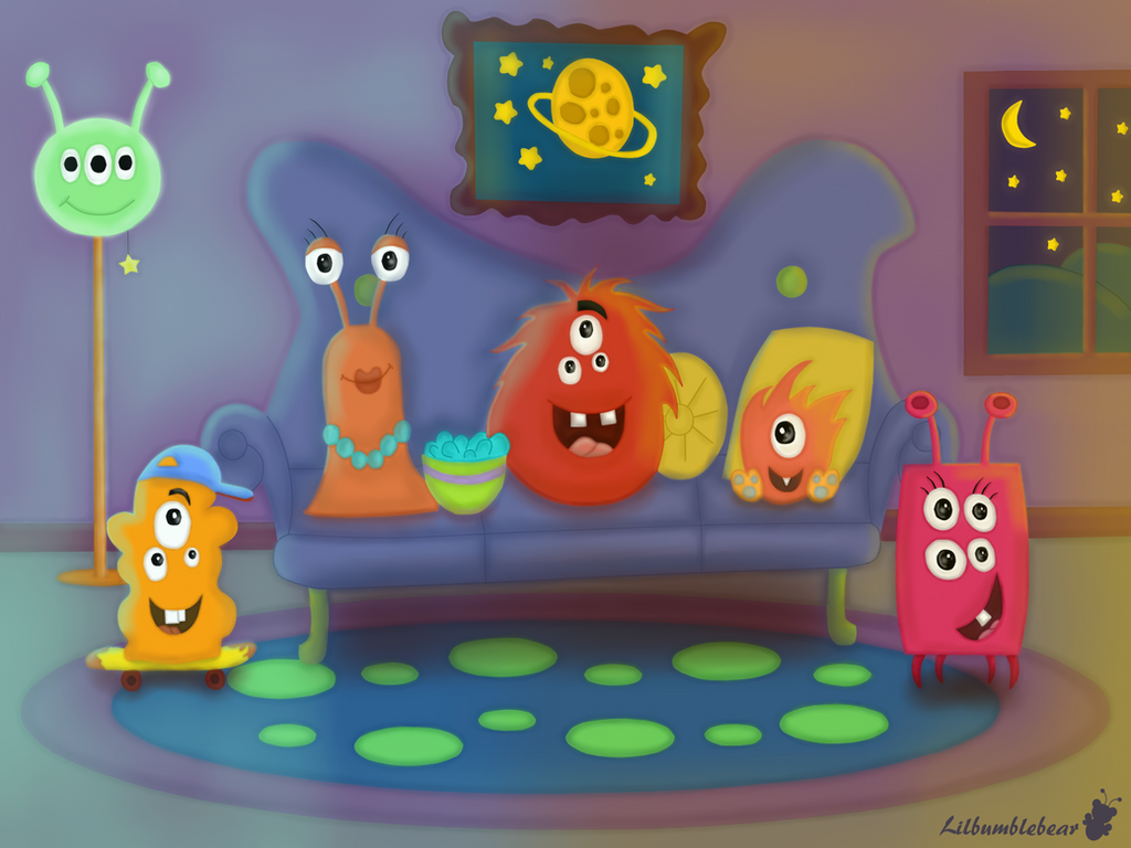 The Monster Family by LilBumbleBear