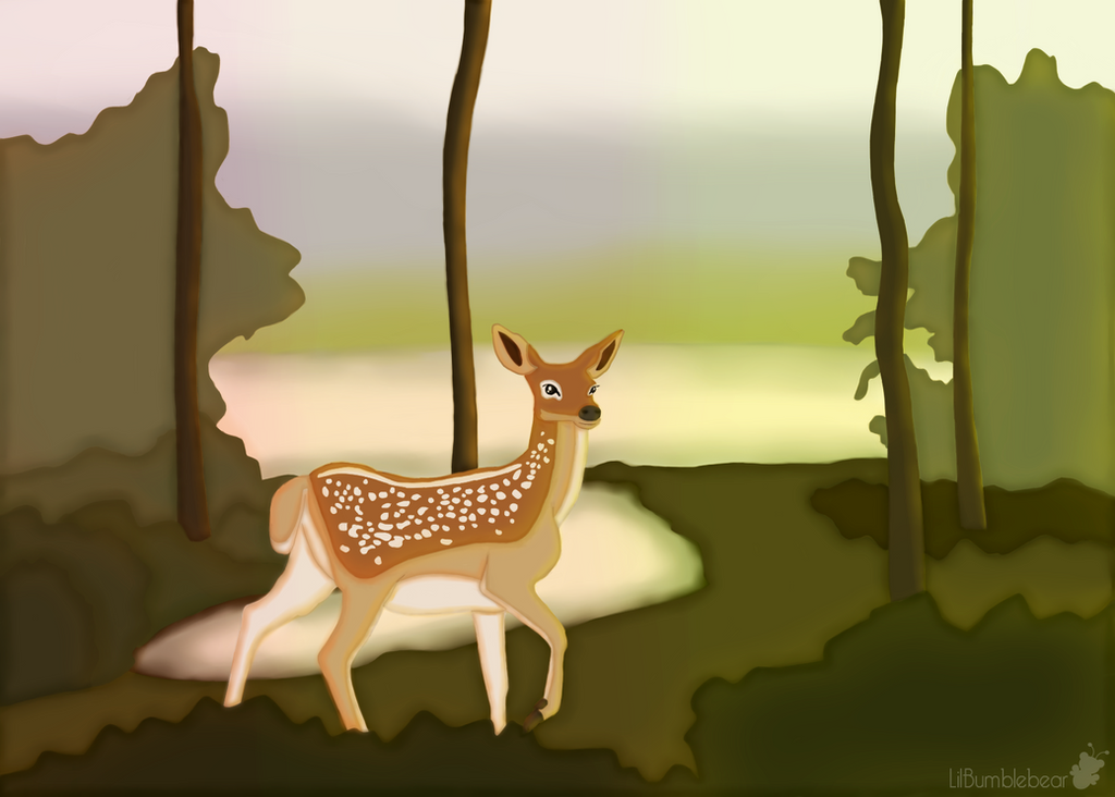 The Deer by LilBumbleBear
