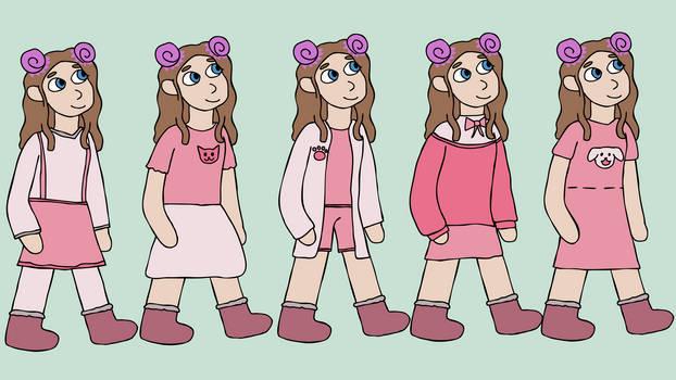 Character clothes design