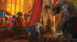 Guild Wars 2 Wintersday Zine - sneak peak by h1fey