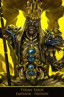 Tyrian Tarot - Emperor - WIP by h1fey