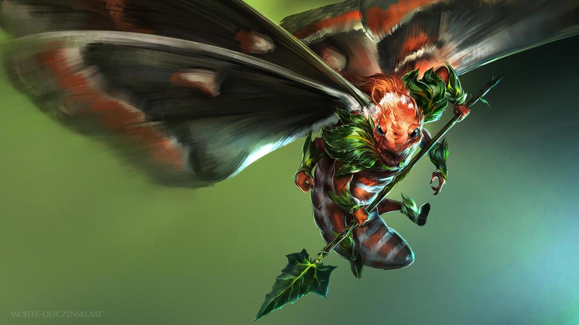Moth Warrior by h1fey