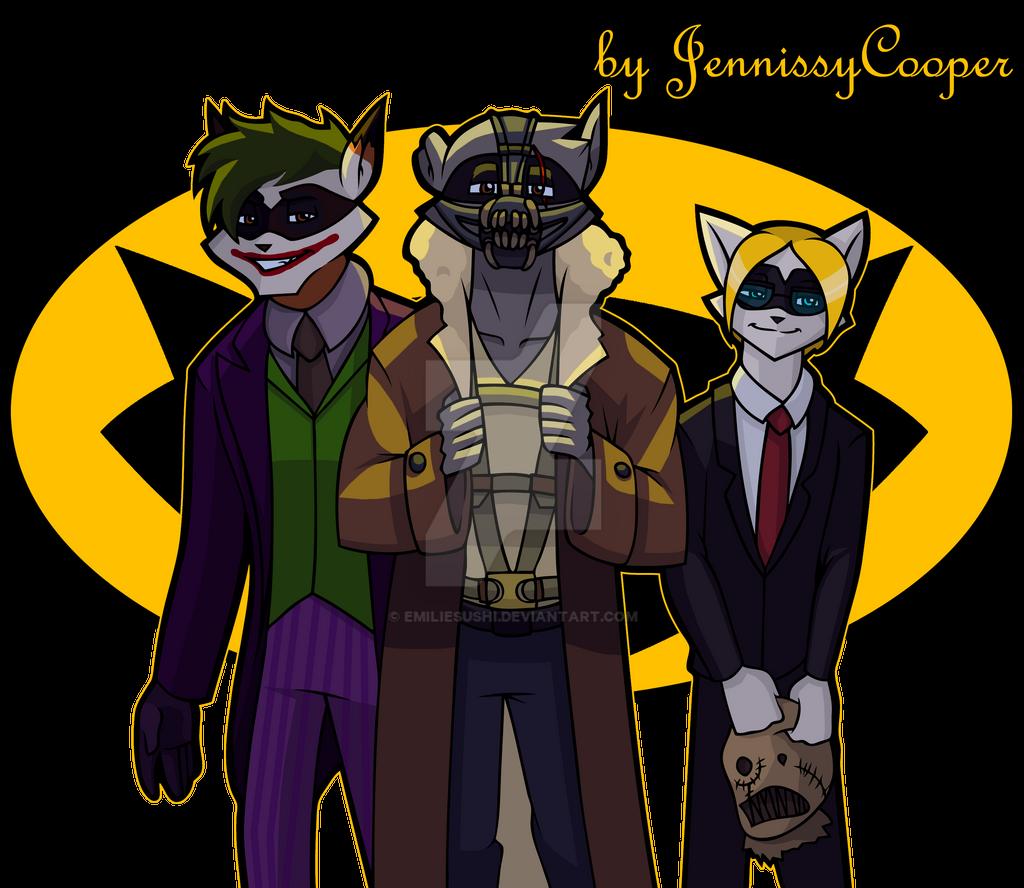 BatCoon villains by JennissyCooper on DeviantArt H20 Delirious Fan Art