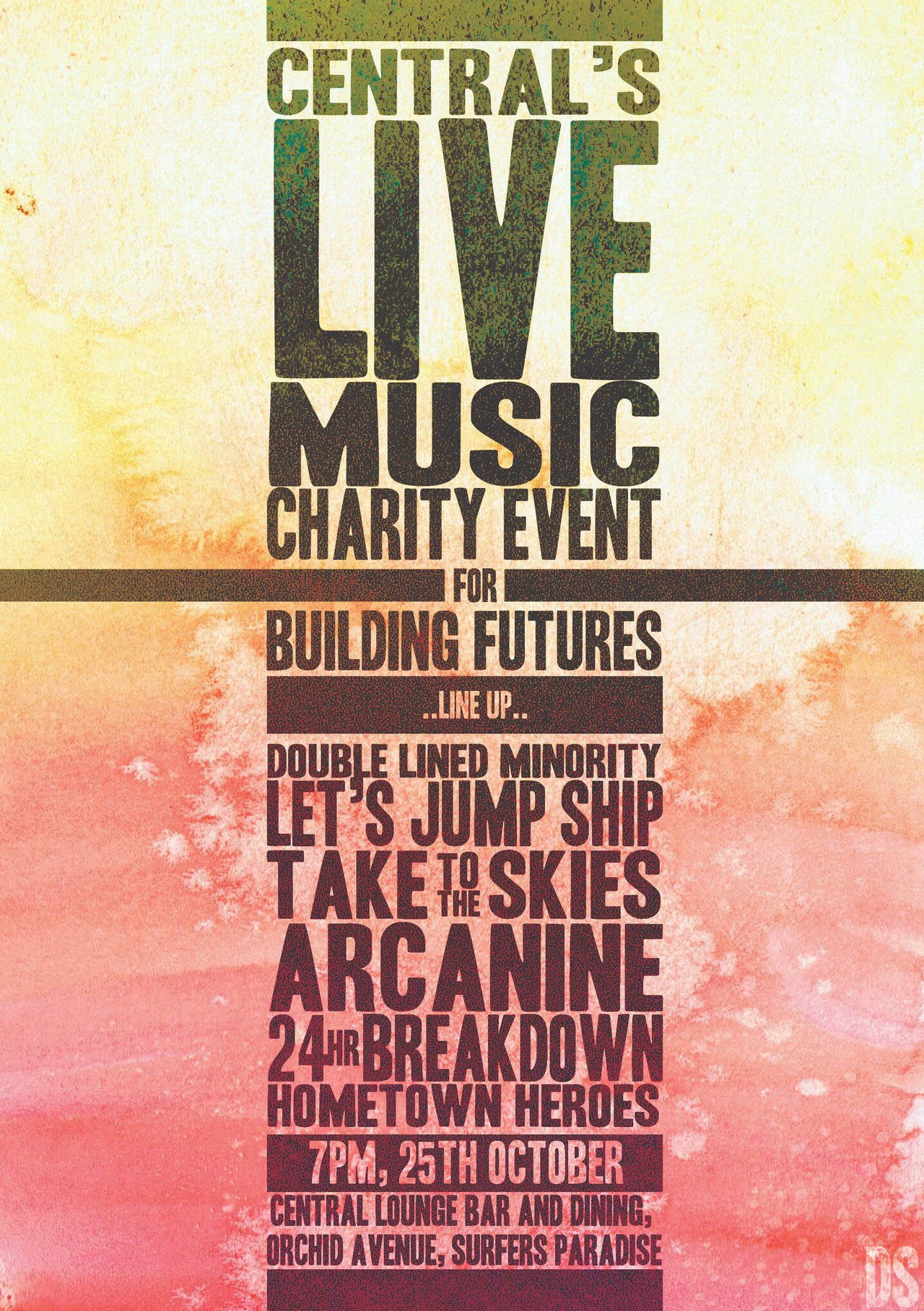 Central's LIVE MUSIC Charity Event Poster Design by symons-photography ...