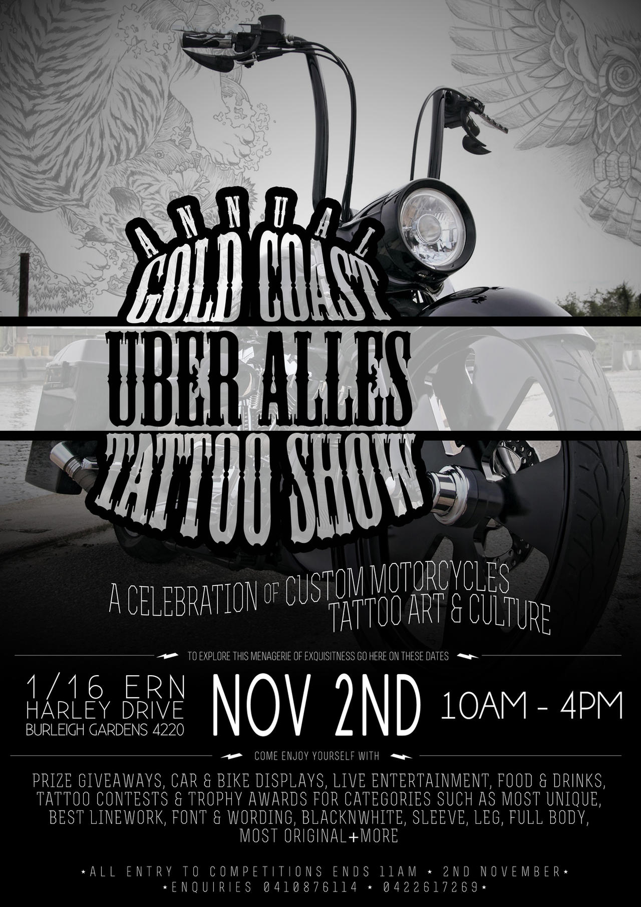 Tatoo Event Poster Design 2 By Symons Photography