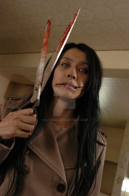 Slit mouthed woman by ultra43
