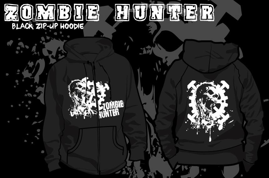 Zombie Hunter Hoodie by Tal1n