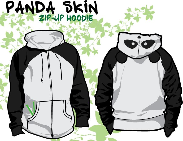 panda skin hoodie by tal1n - Hoodie Design Ideas