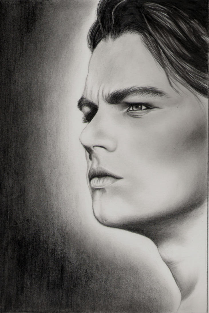 Leonardo diCaprio in progress by elvenart24