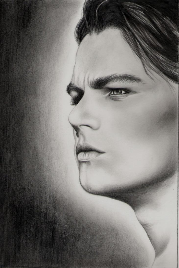 Leonardo diCaprio in progress by elvenart24