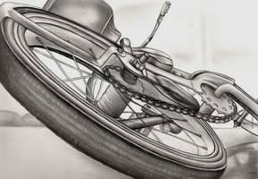 forshortened bike by elvenart24