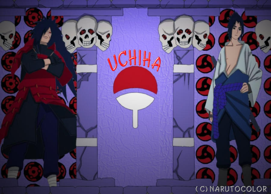 Naruto Uchiha Clan Symbol Wallpaper Hd