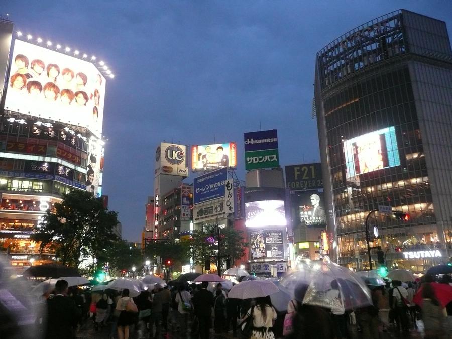 Rainy Shibuya by ShiverZPhotography