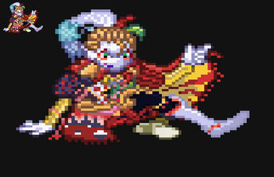 Kefka sprite by ClockworkYggdrasil