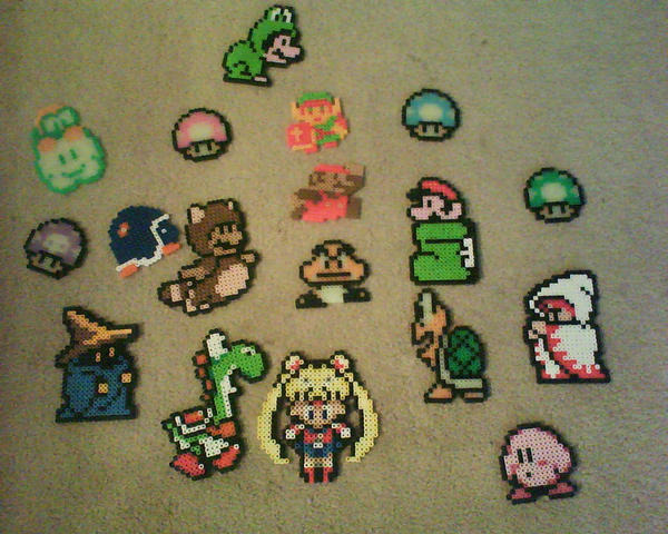 Gaming Perler Bead Crafts by Kat-Lina