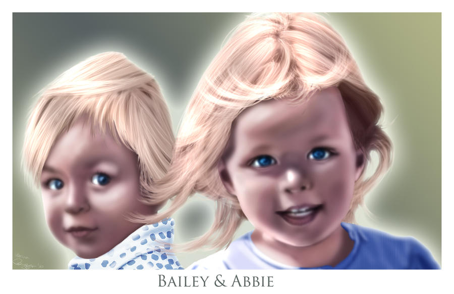 Bailey and Abbie by tchintchie