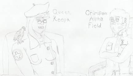Meeting Queen Koopa by CrimsonAlphaField