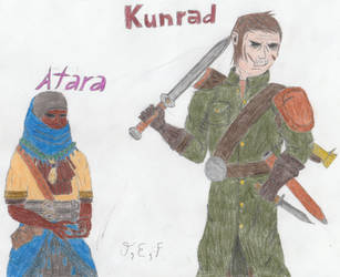 Darkest Dungeon Atara and Kunrad by CrimsonAlphaField