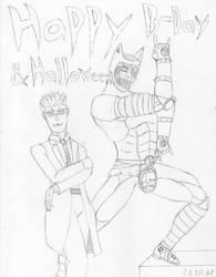 Yoshikage Frank and Killer Adal by CrimsonAlphaField