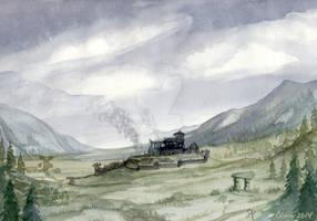 Watercolor sketch: a storm coming