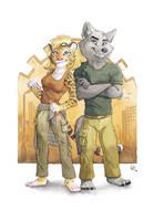 Haku and Raika by olvice
