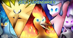 Gen 1 Legendaries by Musicgames98