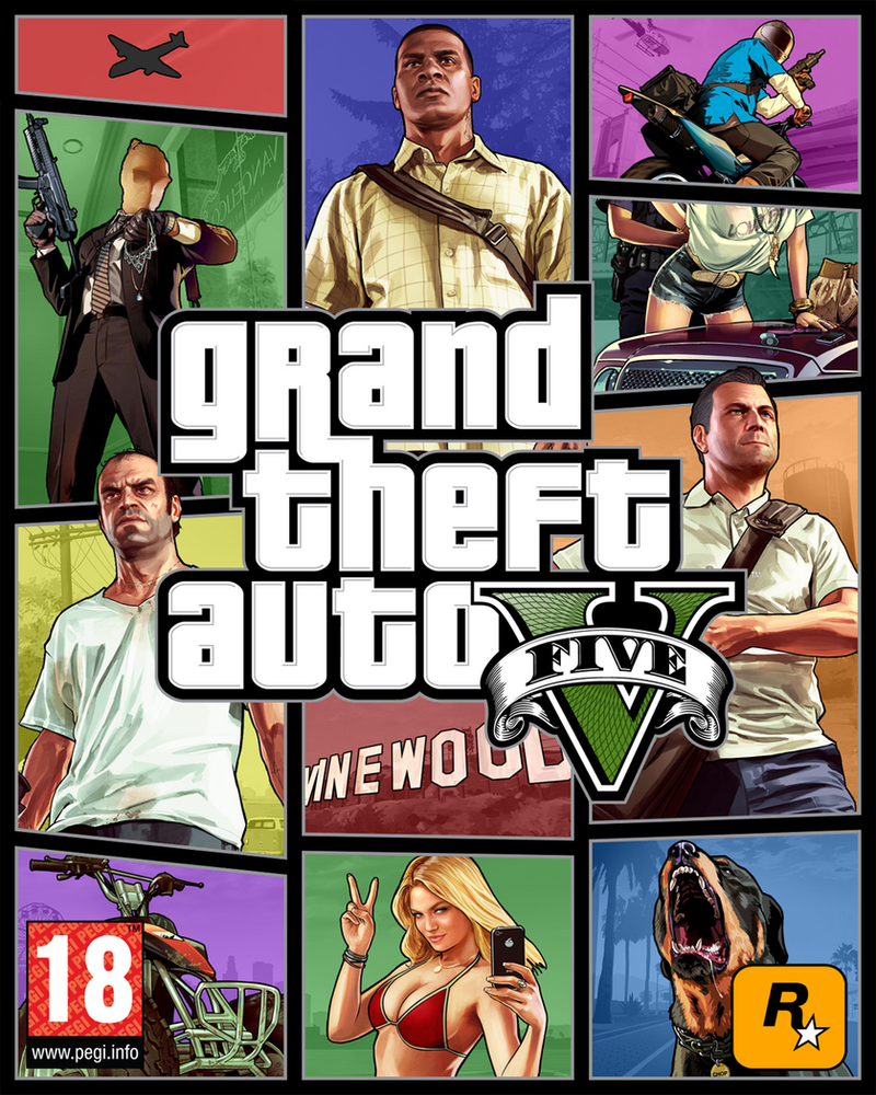 Grand Theft Auto V (GTA V) Fan Cover Art #2 By KevFB On