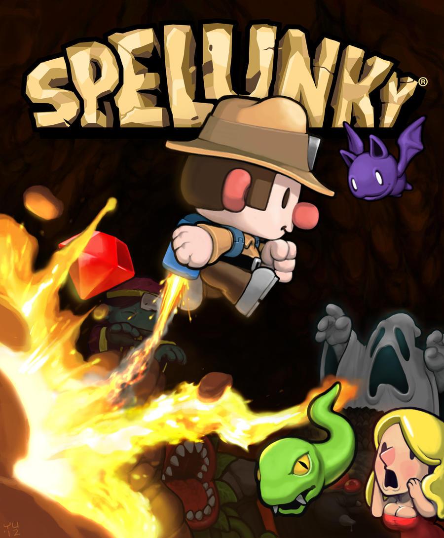 Spelunky Box Art by bossquibble