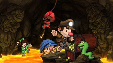 Spelunky Wallpaper by bossquibble