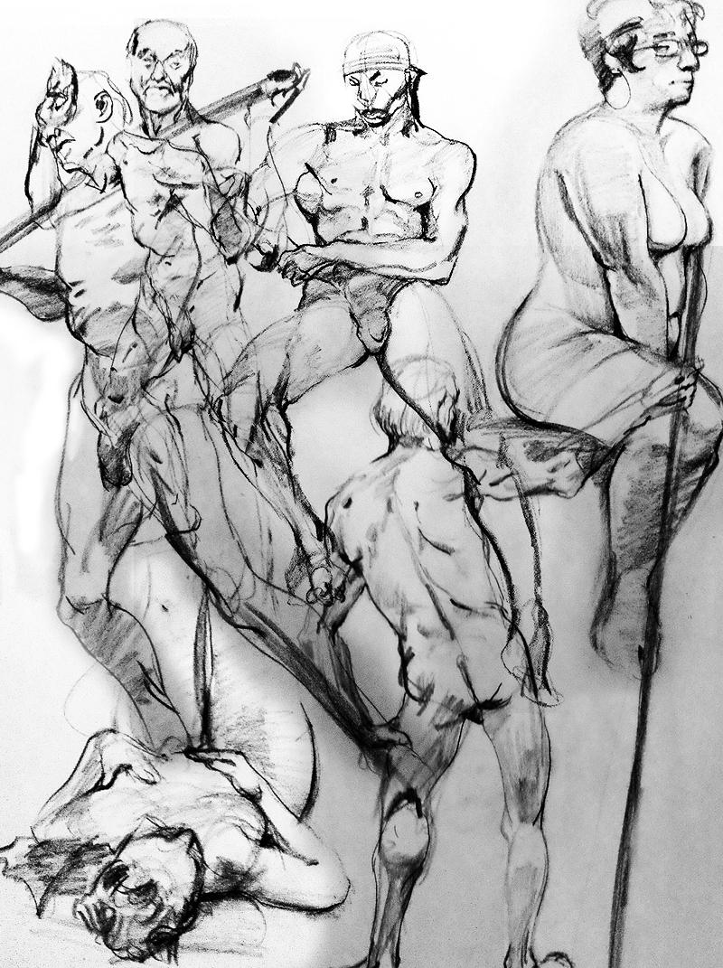 Gesture Drawings Summer-Fall '12
