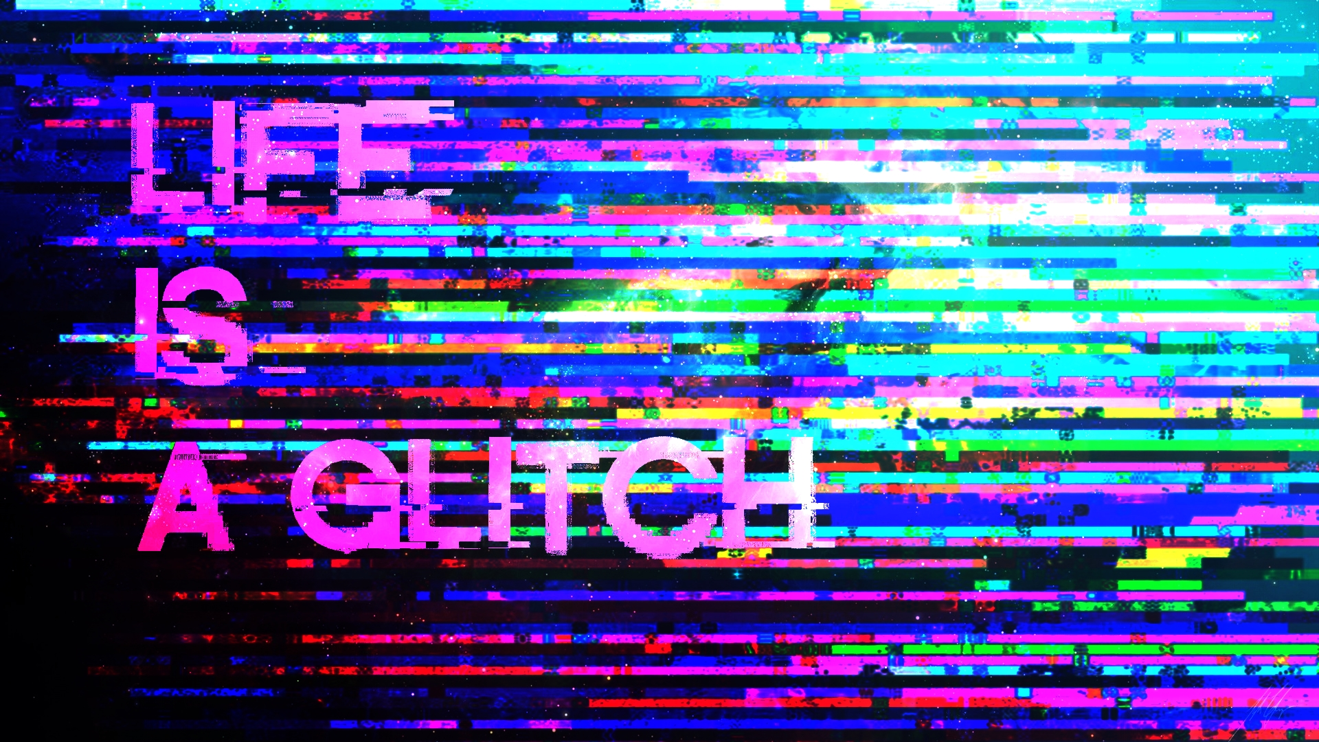 Group of Glitch Art Wallpaper For Youtube