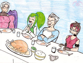 XE: Maximoff Family Dinner by KPenDragon