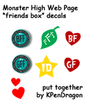MH:Web Bio Page Friends Decals by KPenDragon