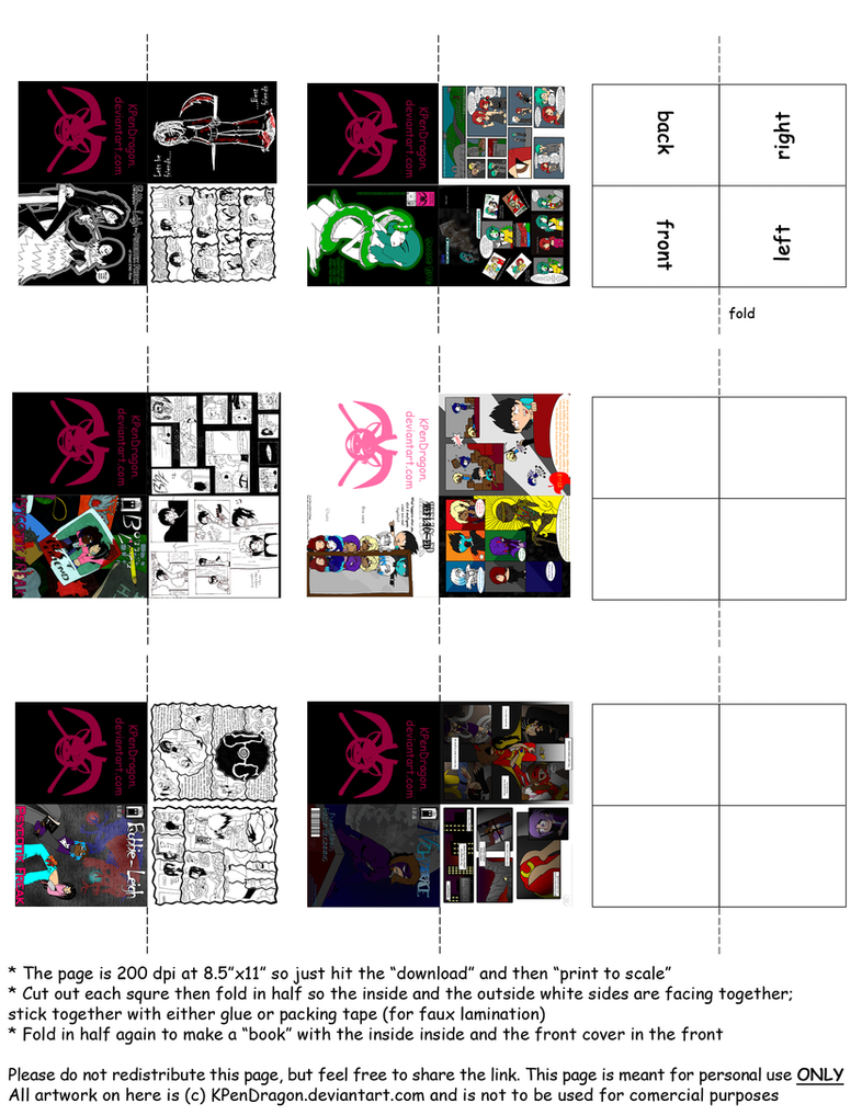 mh easy comic books printable by kpendragon