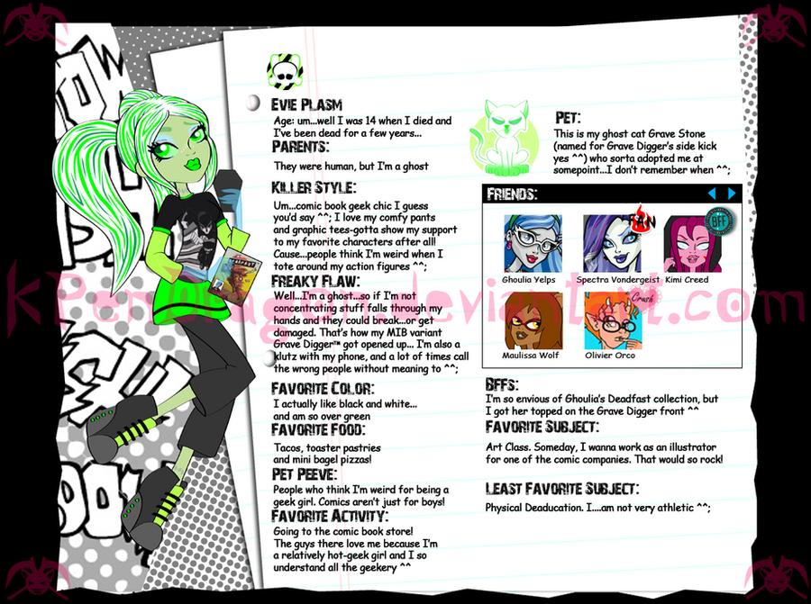 MH: Evie Plasm -web bio- by KPenDragon