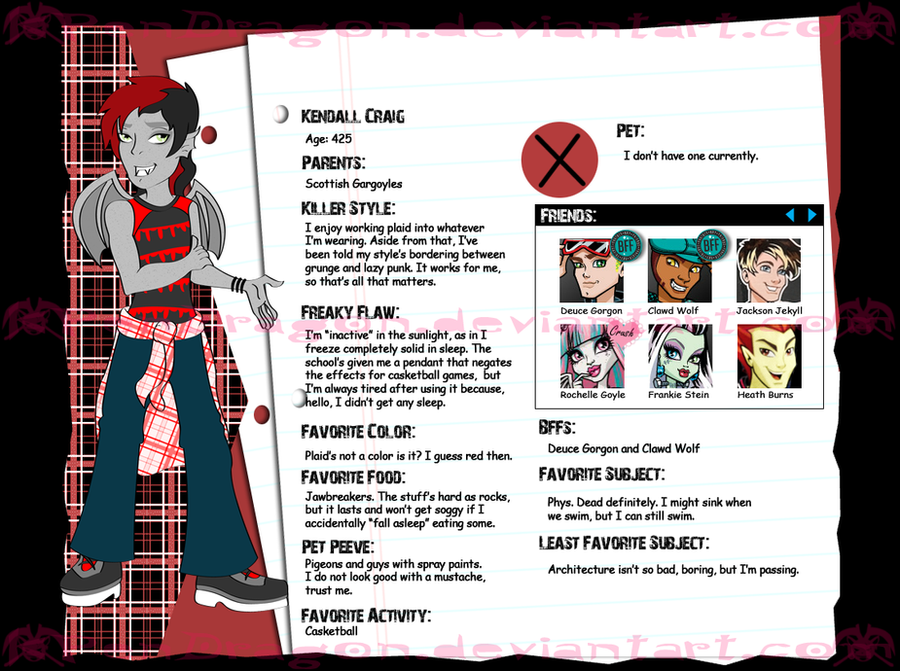 MH: Kendall Craig -bio- by KPenDragon