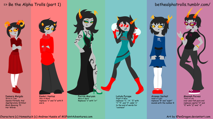 Homestuck Alpha Trolls HS Be the Alpha Trolls  pt 1