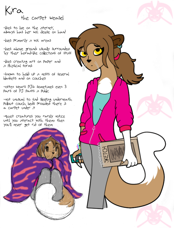 Kira the Carpet Weasel by KPenDragon