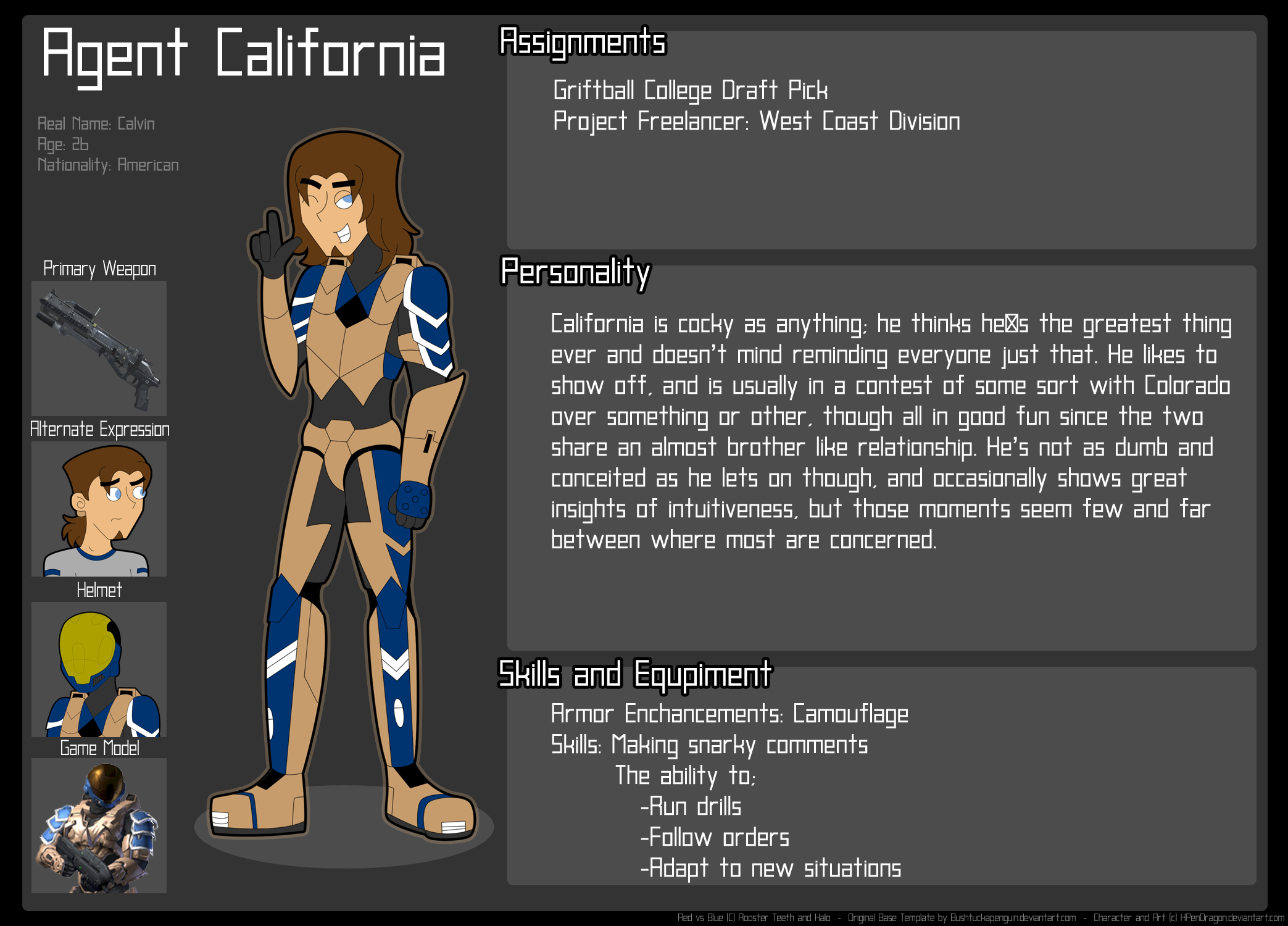 RvB: Agent California Profile by - 399.8KB