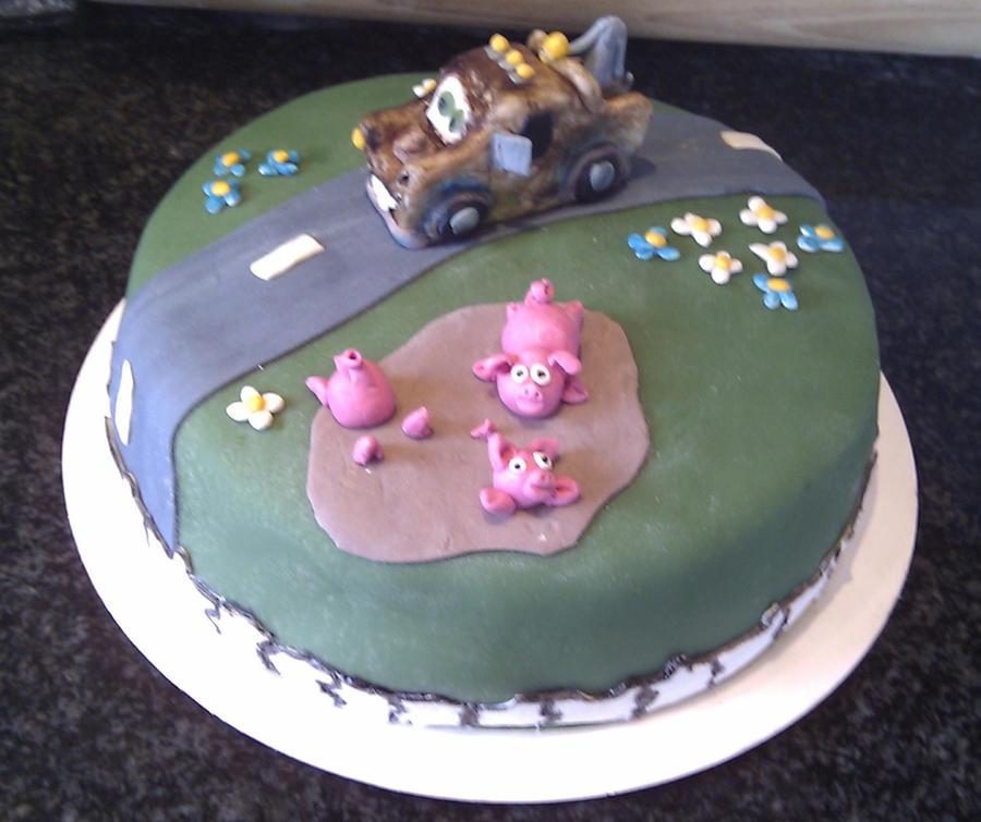 Cake Art Mo : Mater birthdaycake by MalkavianAngel on deviantART
